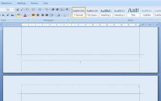 cara membuat nomor Halaman yang berbeda di word 2007