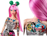 2015 tokidoki barbie chest back tattoos geisha cactus ears cherry blossoms
