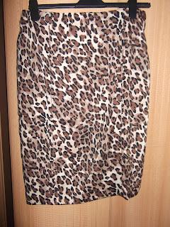 Kaleidoscope leopard print skirt