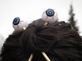 Eyeball hair sticks