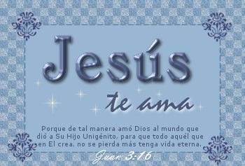 tarjetas con frases cristianas de amor de Jesús