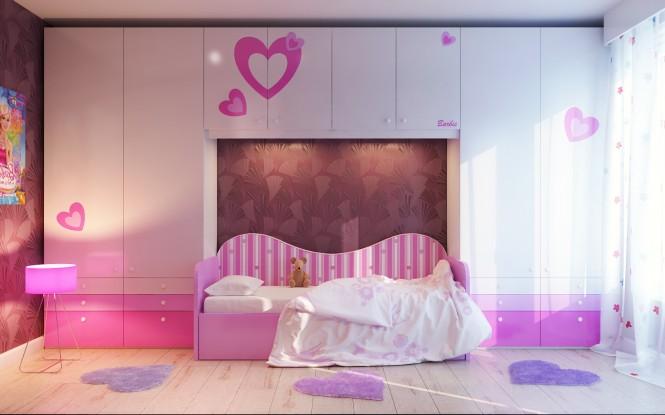 Diseño de interiores & arquitectura: habitaciones de chicas lindas