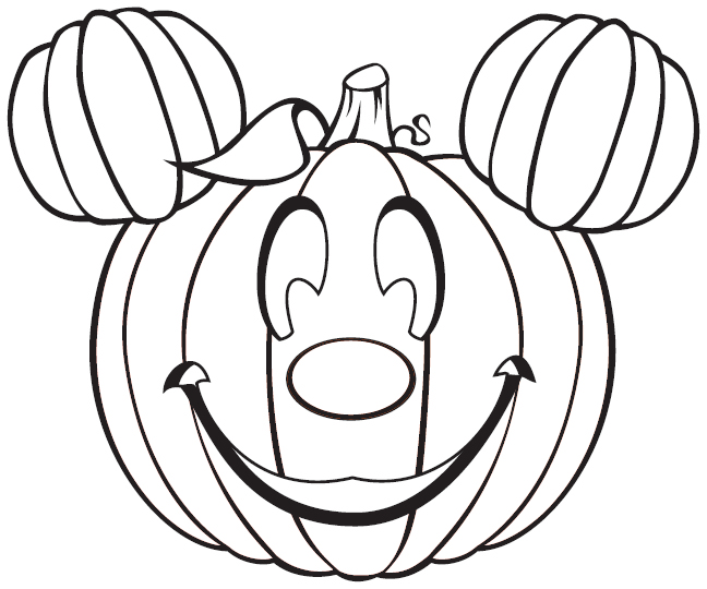 mickey halloween coloring pages - photo#12