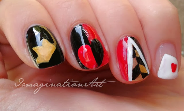 nail art i cattivi disney villains regina di cuori queen of hearts
