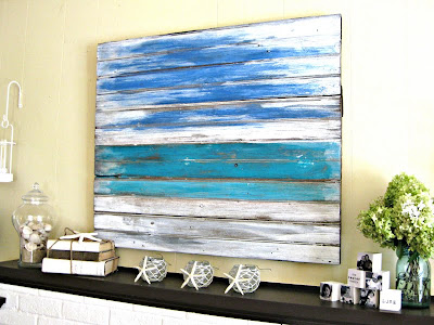 My *PINK* Life: Seaside Inspired Mantle