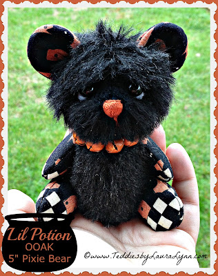 Halloween Artist Teddy Bear by Laura Lynn