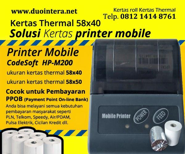 kertas thermal 58x40 - kertas printer mobile - kertas PPOB - Kertas thermal Jakarta