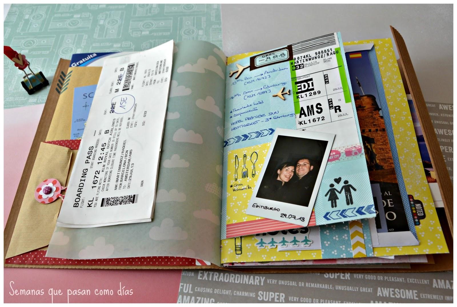 Semanas que pasan como d as viaje a escocia cuaderno - Decorar album de fotos ...