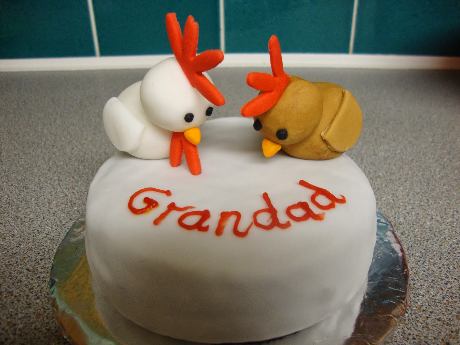 Gemmas Cakes And Bakes Chicken Birthday Cake