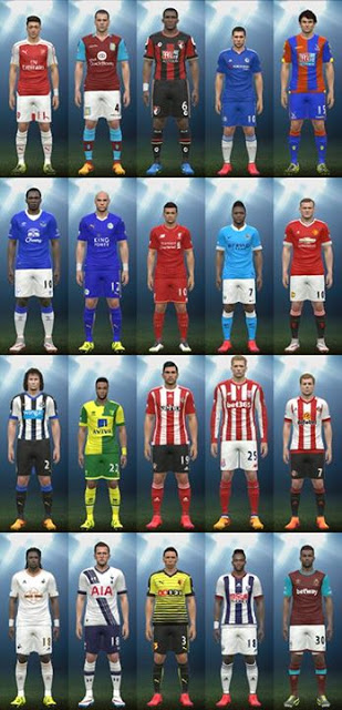 PES 2015 Barclays Premier League Kitpack 2015/2016 By Various Modder