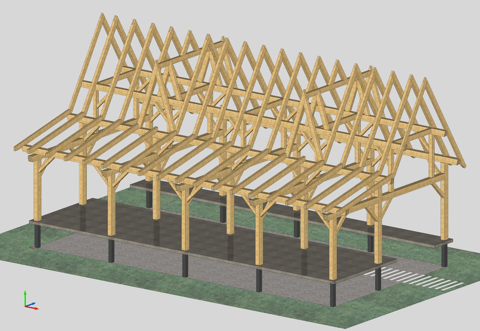 Timber frame design six flags nj timber frames for Timber frame designs