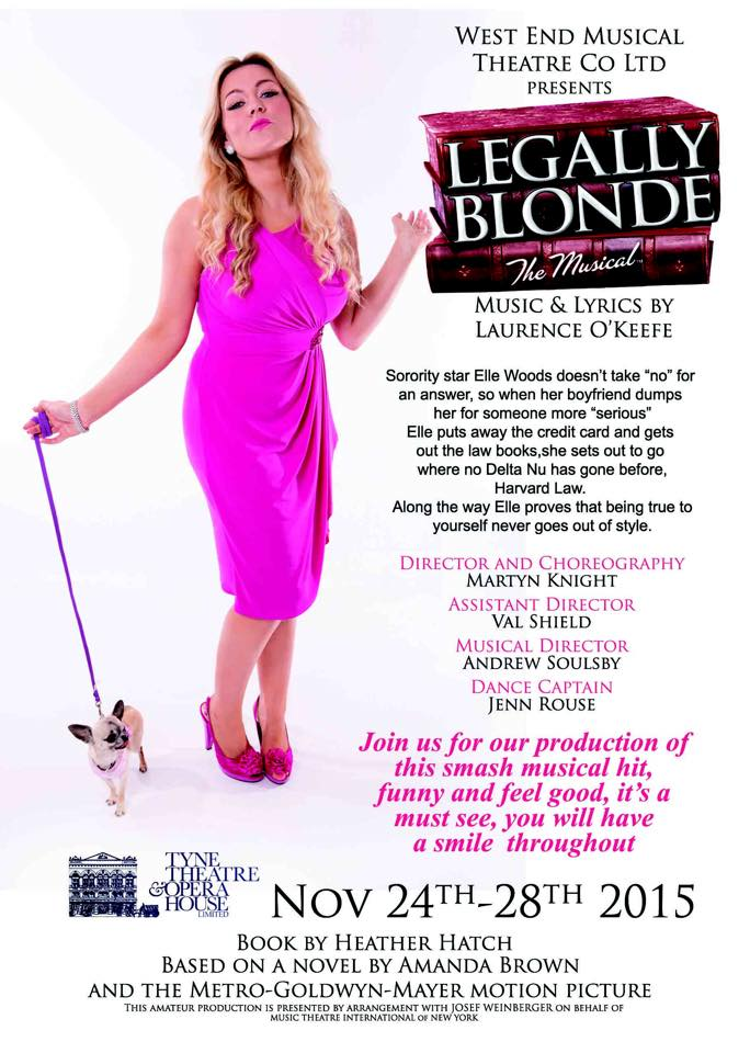 Legally Blonde at the Tyne Theatre | New Girl in Toon