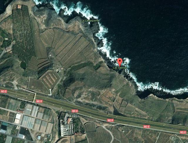Mujer muere al caer al mar mientras pescaba en Tinoca, Arucas