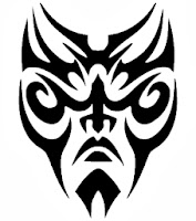 Maori maszk / vektoros pólóminta / RockPont