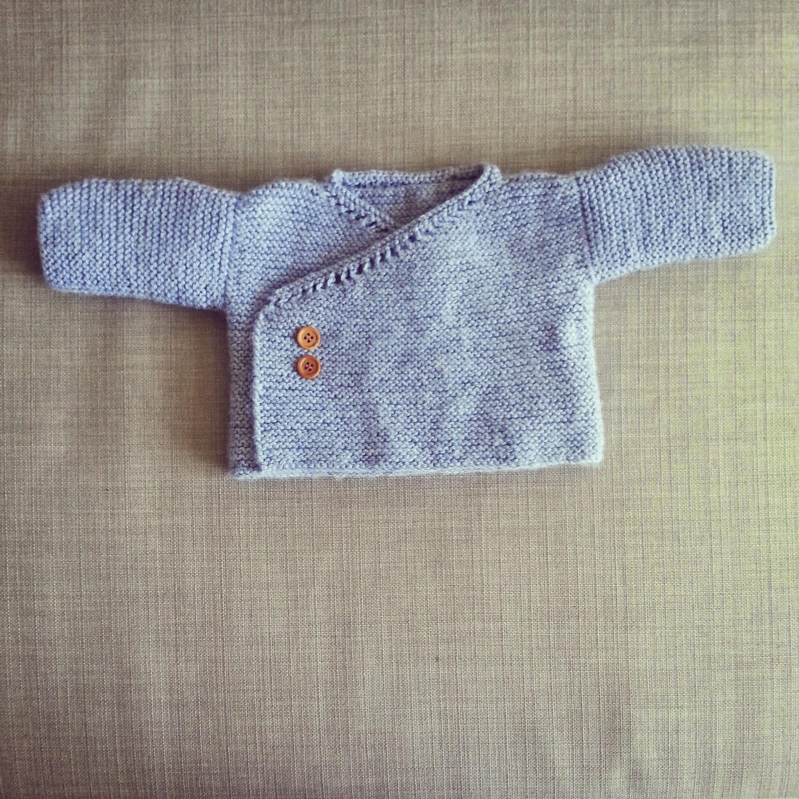 Lanitasypapel calceta una chaquetita de bebe sin morir en el intento - Tejer chaqueta bebe 6 meses ...