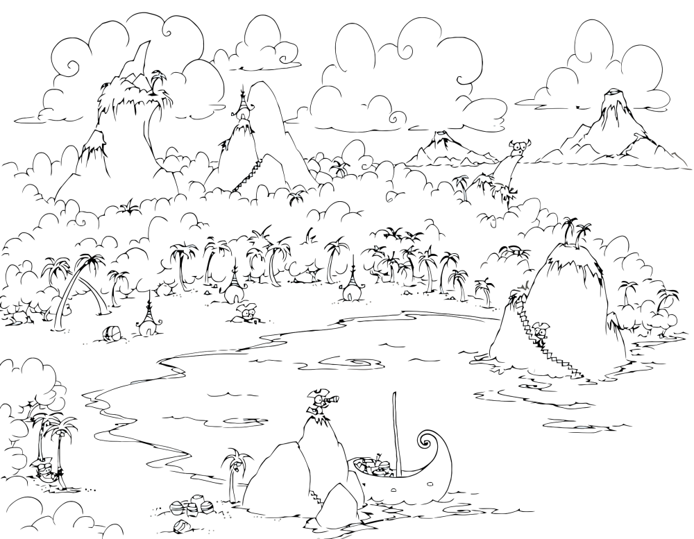 Kids Page Islands Bluebison Net 2 Coloring Pages