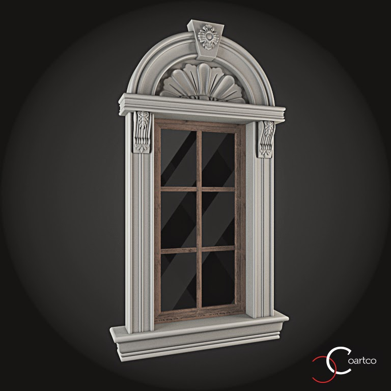 Ornamente Geamuri Exterior, Arcada fatade case cu profile decorative polistiren, profile fatada,  Model Cod: WIN-026
