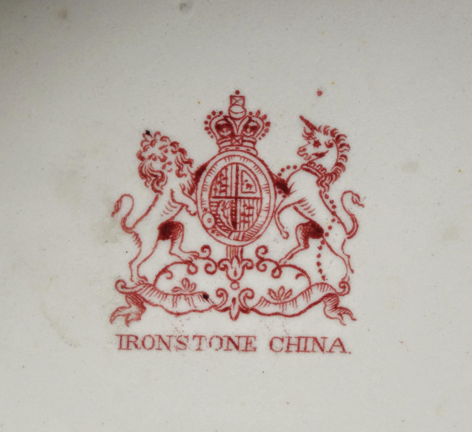 Hallmark of Japanese English Imari Design Ironstone China Urn