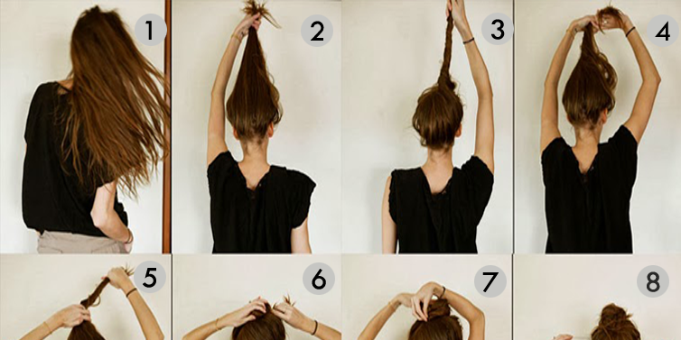 Messy Bun Hairstyles For Long Hair Step By Step Beautiful Girls