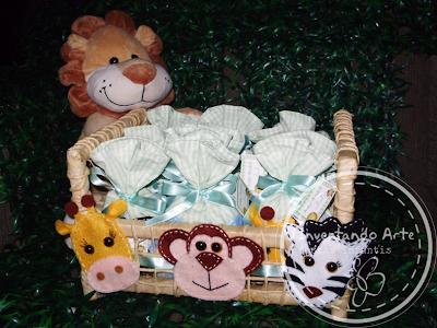 lembrancinha nascimento safari animais selva