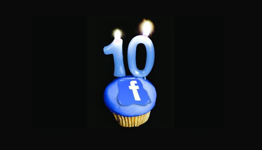 Facebook 10 años desde que Inició su negocio