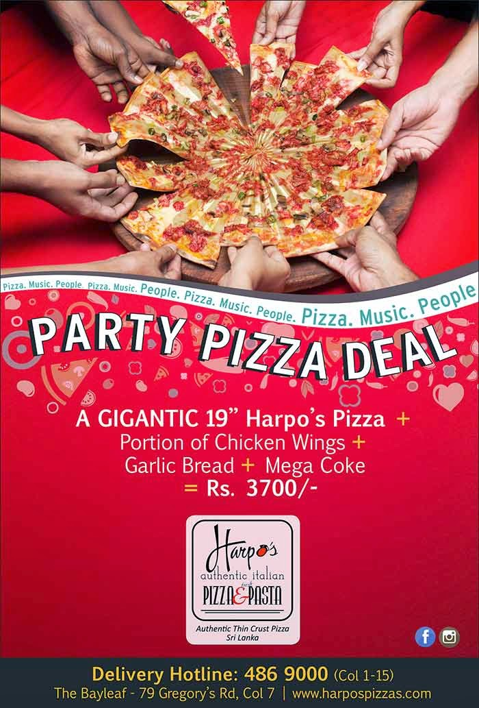 Delicious Gigantic Pizza offer - Call 486 9000.