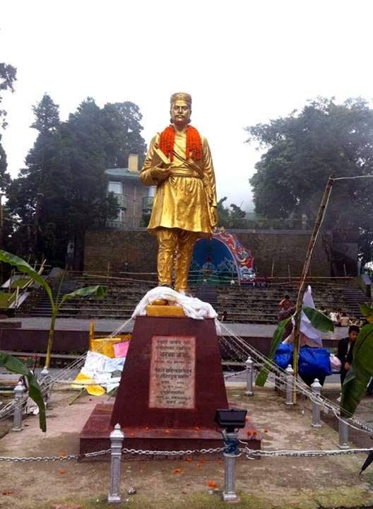 Bhanubhakta acharya statue in Darjeeling Chowrasta