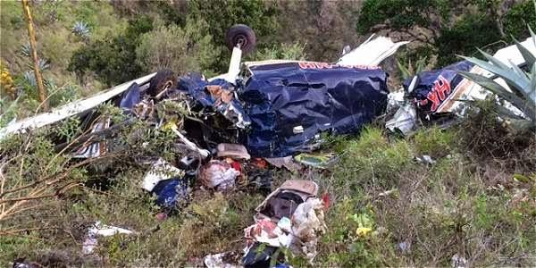 Atención, primera foto de la avioneta accidentada en Los Santos
