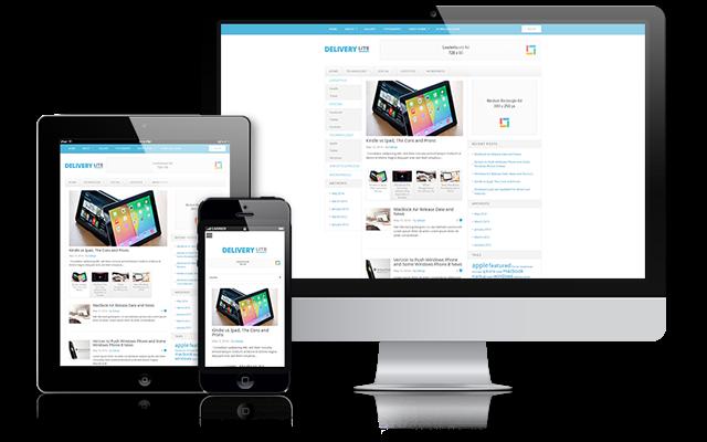 Delivery Lite - Template Blog SEO Responsif Minimalis 3 Kolom