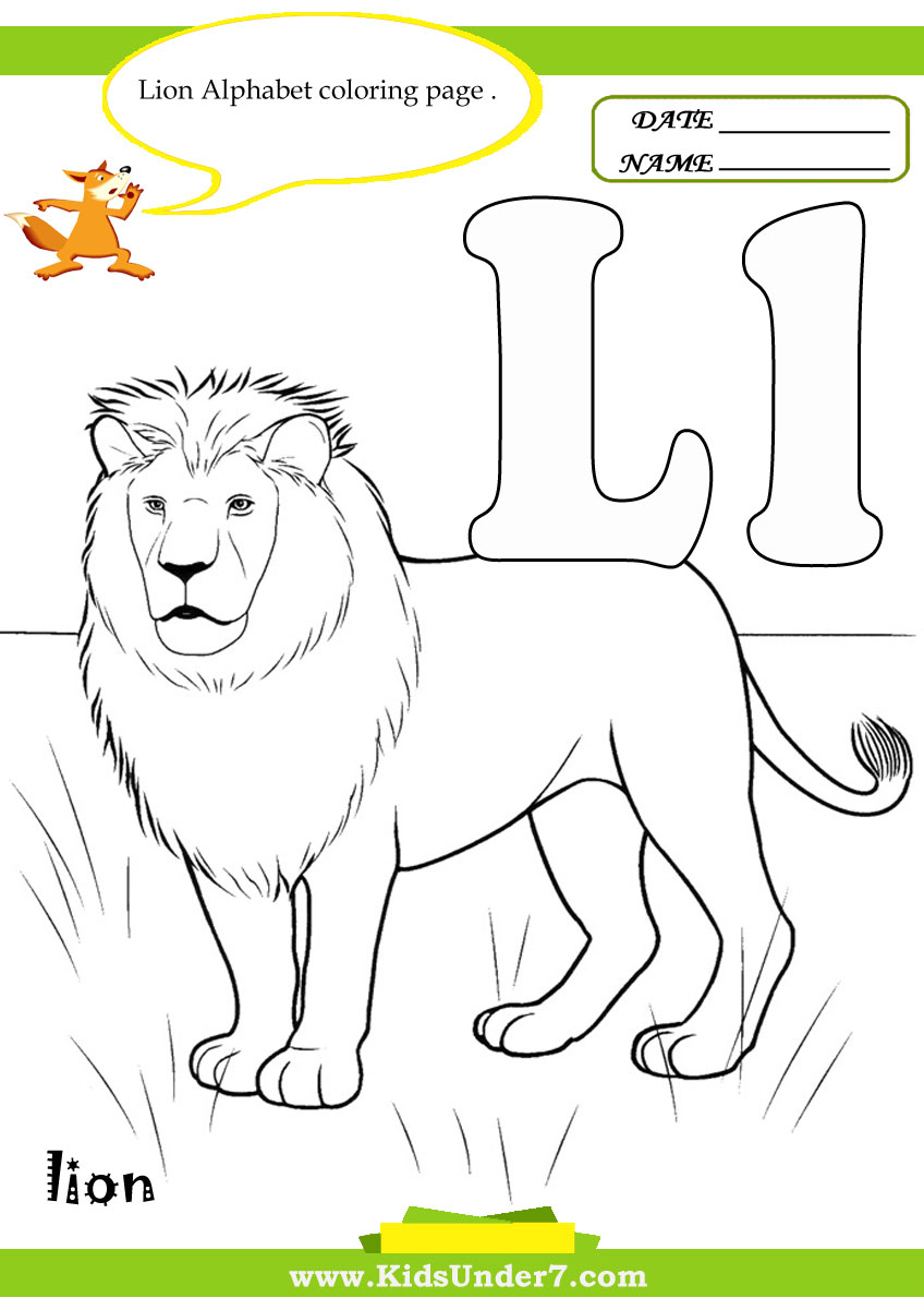 Kids Under 7 Letter L Worksheets and Coloring Pages – Letter L Worksheets Kindergarten