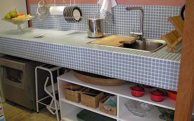 Dicas do Novo Apê Estou apaixonada pelas Bancadas de Concreto -> Como Fazer Pia De Banheiro De Tijolo