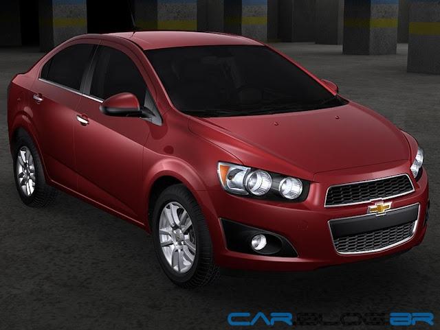 Chevrolet Sonic 2013 vermelho