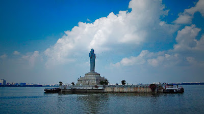 Hussain Sagar Lake is one of the largest heart shaped manmade lake situated at the Hyderabad.