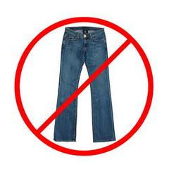 Clip Art No Jeans Sign