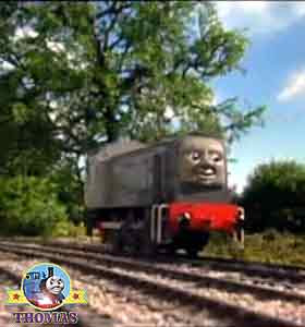 So train Dennis the diesel engine raced away express Gordon Percy Thomas the tank engine and friends