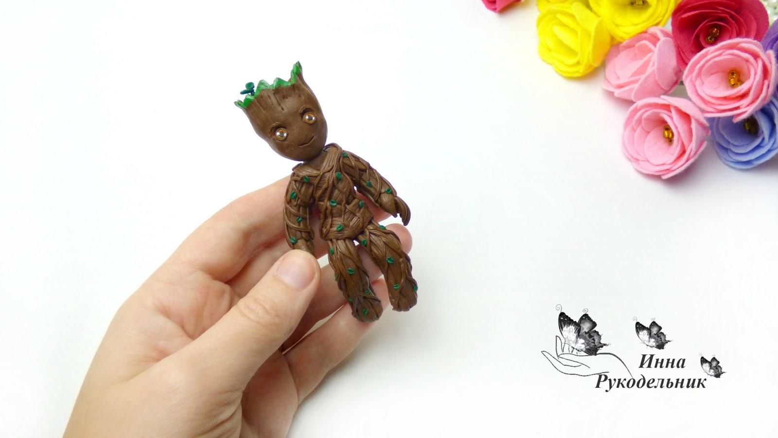Подарок из полимерной глины своими руками