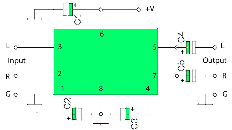 2 x 0 6w schematic audio amplifier rh rangkaianlo blogspot com