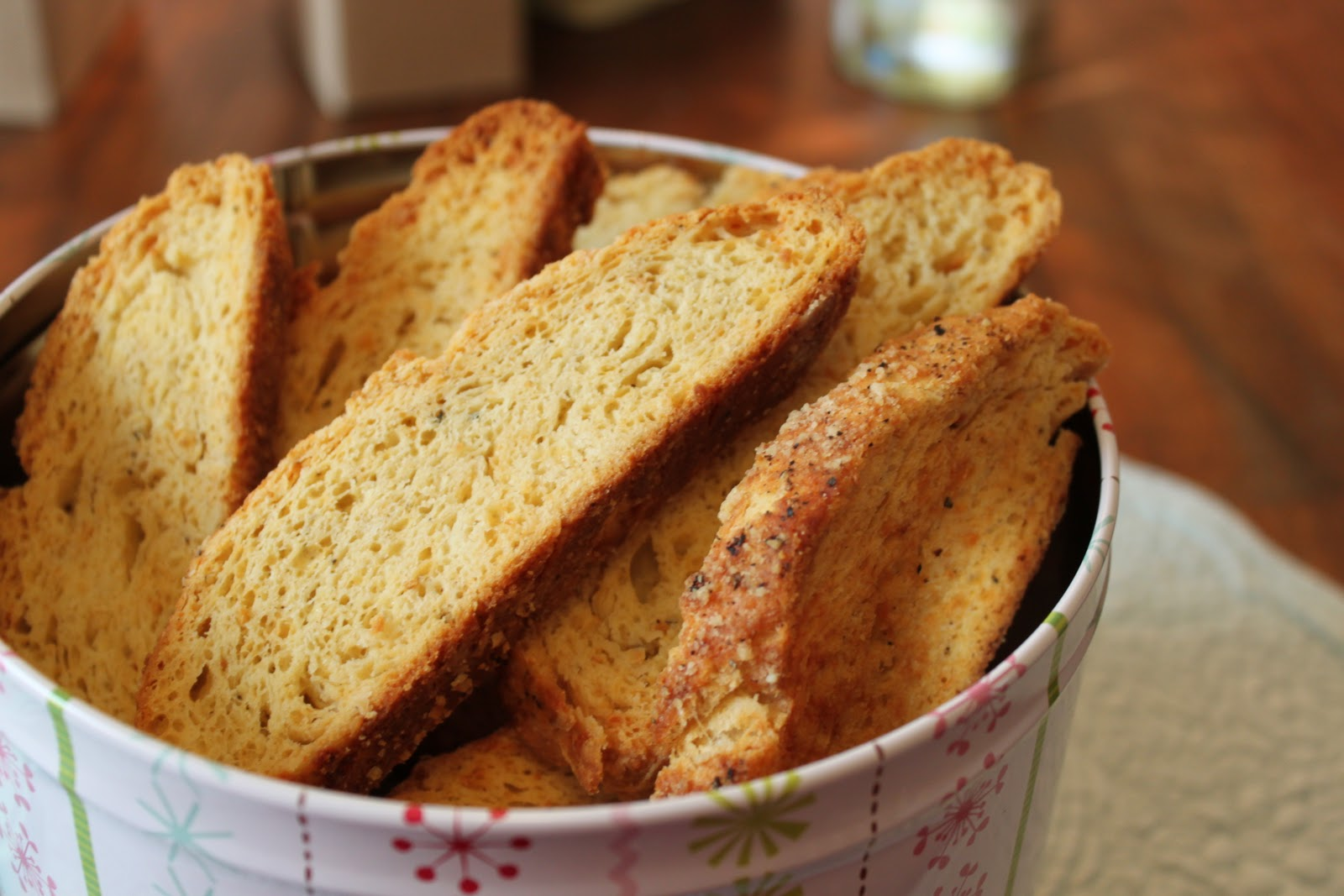 Parmesan Black-Pepper Biscotti from Epicurious with a small tweak by ...
