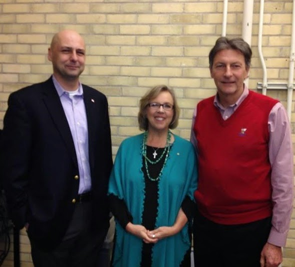 Matthew Kellway (NDP), Elizabeth May, John McKay (Liberal).
