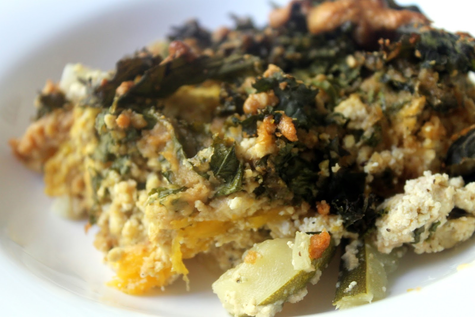 Polenta Lasagna With Butternut Squash And Spinach Recipe — Dishmaps