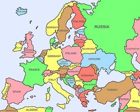 Kaart van Europa Landkaart