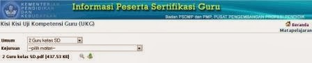 Upt Tk Sd Kecamatan Medan Belawan Download Kisi Kisi Ukg Sertifikasi Guru 2014