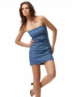 Modelo de vestido jeans básico - dicas e fotos