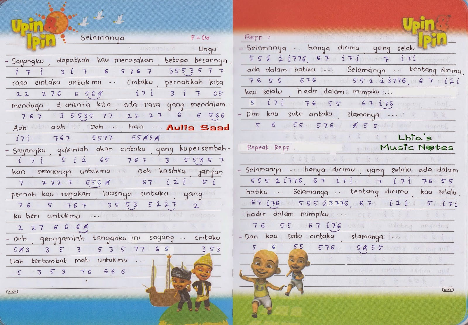 not lagu u2013 Ungu : Lhiau0026#39;s Music Notes