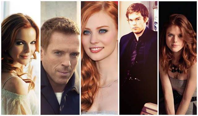 Red Hair - Pelirrojos: Marcia Cross, Damian Lewis, Deborah Ann Woll, Michael C. Hall, Rose Leslie