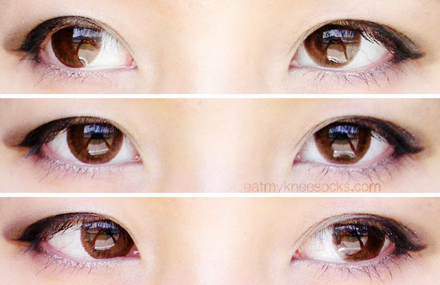 Views of the Maxlook SCL 23 C-Brown circle lenses from Klenspop.