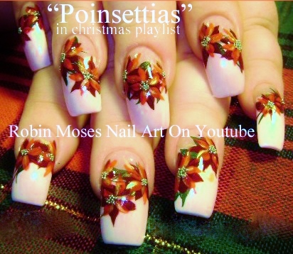 Robin moses nail art christmas poinsetta nail art xmas flower poinsettia nail art design tutorials from my youtube page over 75 christmas nail designs to choose from please spread the word and join meon youtube prinsesfo Choice Image
