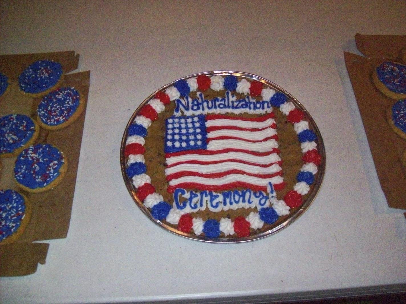 Citizenship Test Cake