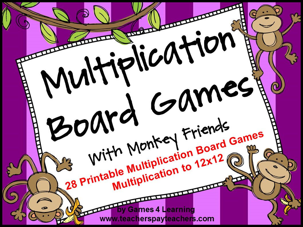 Fun Games 4 Learning My Products – Multiplication Worksheet Games