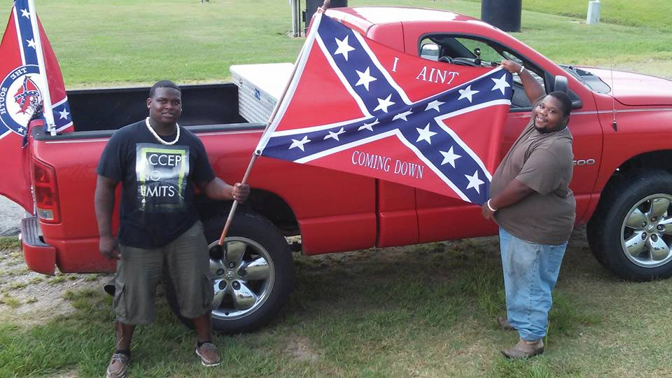 Black southerners standing up for the confederate flag photo